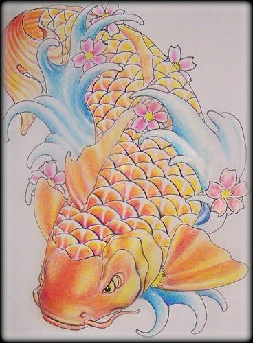 koi fish drawing. koi fish drawing