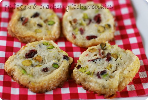 ... Oven: Christmas Baking Part II: Pistachio & Cranberry Icebox Cookies