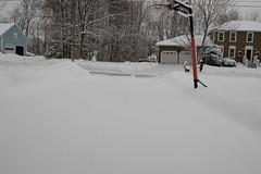 before shoveling