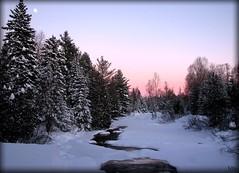Lune de dcembre (-VRo-) Tags: hiver rivire laurentides photoquebec lysdor vosplusbellesphotos