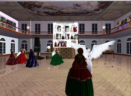 Elizabethan fashion creation lecture on SL by inacentaurdump.