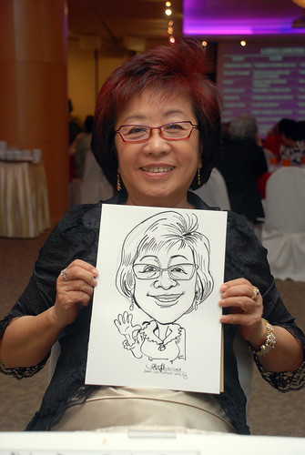 Caricature live sketching for Christ Methodist Church Christmas Celebration - 11