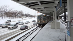 Run 124 to O'Hare (saumacus) Tags: winter snow cta publictransit blueline l publictransport addison elevatedtrain thel addisonstation chicagotransitauthority chicagol geo:country=usa geo:city=chicago geo:state=illinois chicagoelevatedtrain addisonbluelinestation