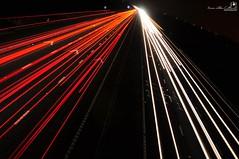 Warp Speed Motorway (AreKev) Tags: warp speed motorway m4 night light trails streams longexposure downend bristol england uk d90 18105mmf3556g nikon nikond90