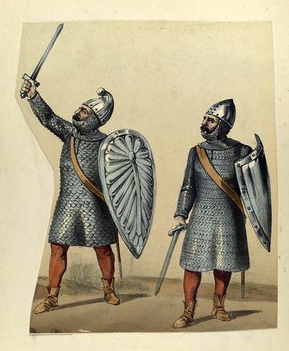 002a-Cetratos-loricatos de mesnada de ciudad o villa año 1147