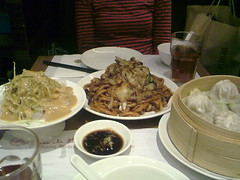 shanghai fry noodles and soup dumplings