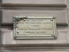 Bonnie Prince Charlie was here (Wider World) Tags: scotland glasgow charles prince stuart argylestreet 1745 bonnieprincecharlie glassfordstreet