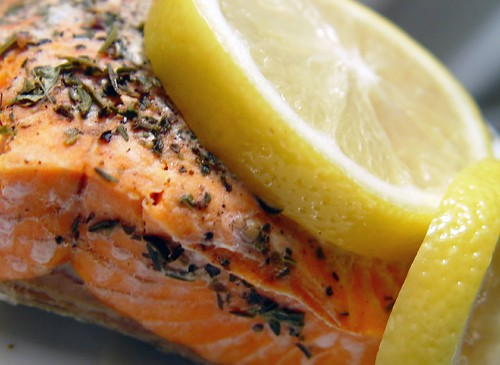 salmon and lemon