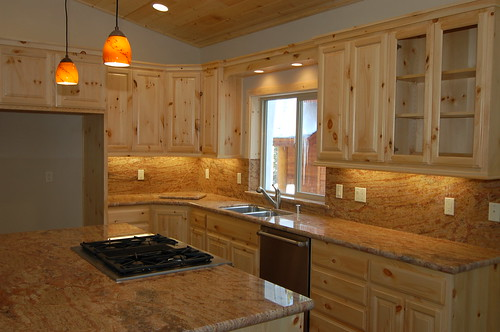 Beau Knotty Pine Kitchen Cabinets