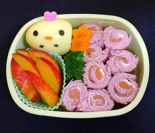 Taro Bread Rollups Bento by sherimiya ♥