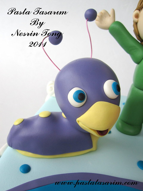 baby tv - tuli cake - UZAY 2ND BIRTHDAY