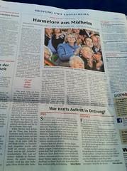 WAZ: Hannelore aus Mülheim / War Krafts Auftritt in Ordnung?