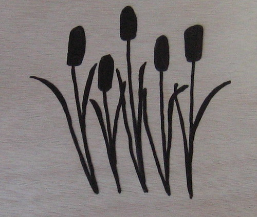 Cattail Screen Print