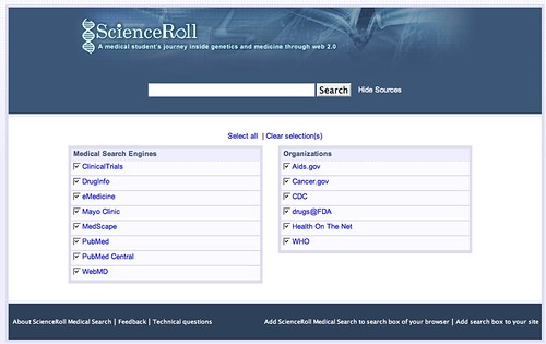 ScienceRoll Search Clustering Search Engine