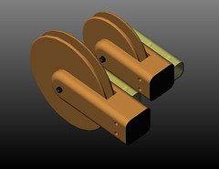 pulley size compare - isometric