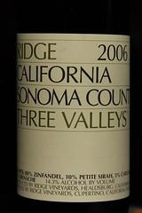 Ridge Wine Three Valleys 2006