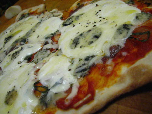 Cabrales, Cipollini, Anchovy and Mozzerella Pizza