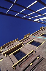 Architectural detail of the Powerhouse Museum (Powerhouse Museum) Tags: blue windows detail lines architecture design exterior bricks architectural powerhousemuseum