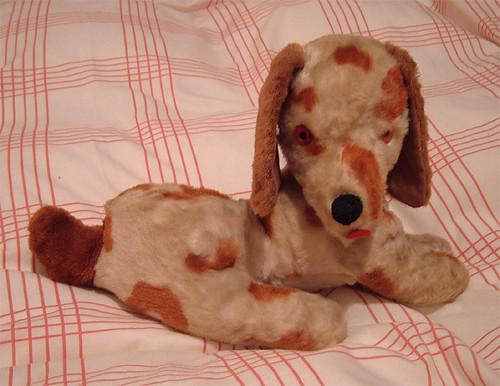 Vintage plush dog