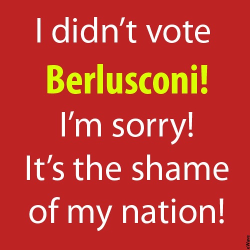 A symbolic election poster against Silvio Berlusconi!