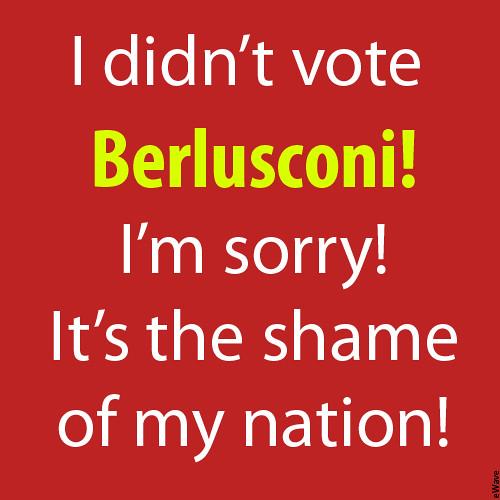 A symbolic election poster against Silvio Berlusconi!