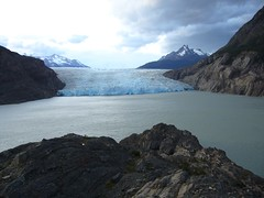 Torres del Paine - trek - glacier Grey