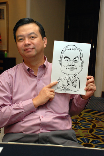 Caricature live sketching SIA Engineering 1
