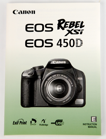 Canon XSi / 450D instruction manual