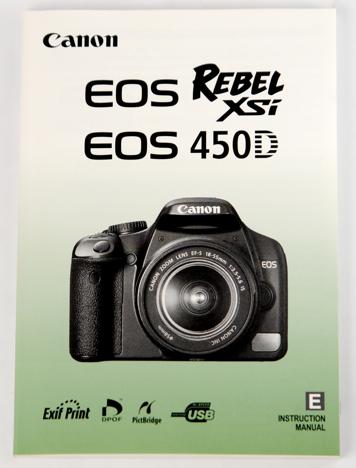 Canon XSi / 450D instruction manual