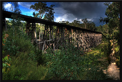 Stony Creek Trestle Bridge (agtwo) Tags: trestle bridge creek forest wooden railway australia victoria disused stony hdr gippsland cokin orbost nd8