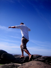 rock jumping!