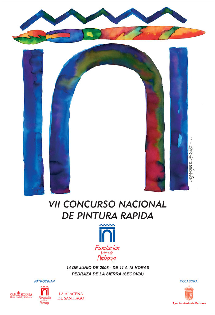 Cartel VII Concurso Nacional de Pintura Rápida