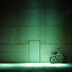 Bikes (manganite) Tags: door green topf25 colors monochrome lines wall museum night digital buildings germany dark square geotagged concrete interestingness google topf50 nikon topf75 europe bonn tl empty atmosphere monotone bicycles explore getty d200 nikkor dslr topf150 toned topf100 vignette topf200 emptiness gettyimages greenish jewelryornaments museumsmeile northrhinewestphalia 500x500 fav100 fav200 interestingness202 i500 18200mmf3556 utatafeature manganite nikonstunninggallery ipernity jotblog date:year=2007 artlibres winner500 nikonflickraward geo:lat=50714842 geo:lon=7120785 date:month=january date:day=7 format:orientation=square format:ratio=11