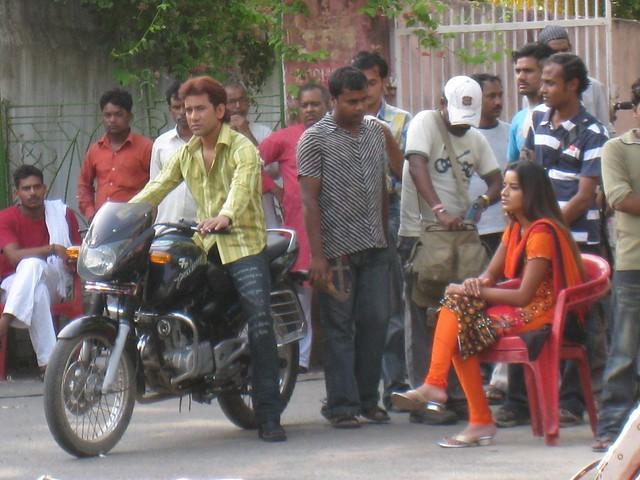 Actors await their cue