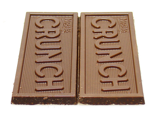 Old Crunch bar versus Now Even Richer Crunch Bar