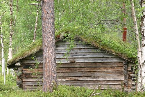 Casa en el museo sami