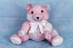 Urso de retalhos - E116 (Moldes videocurso artesanato) Tags: e116