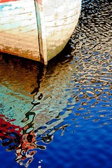 Boat. (Ian McWilliams.) Tags: colour reflection water boat shapes calm ripples newcastleupontyne rivertyne