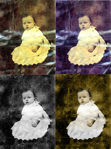 My Maternal Grandfather as a Baby (Restored Tintype)