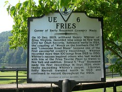 Fries Historic Marker (jimmywayne) Tags: virginia historic fries marker