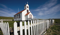 Little church and picket fence (LuzKreativa) Tags: white church iceland small picketfence chiesetta islanda