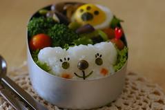 Polar Bear Bento (luckysundae) Tags: kawaii bento japanesefood obento charaben kyaraben