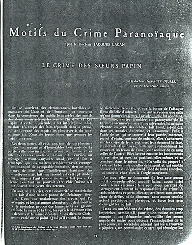 Motifs_du_crime_paranoiaque by Jacques Lacan by you.