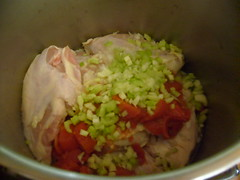 Chicken and Vegetables Awaiting Broth