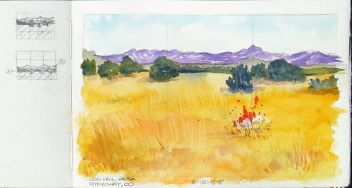 Watercolor Sketch - Log Hill Mesa, Ridgway, CO