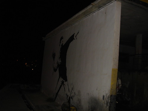 Banksy, not the wall