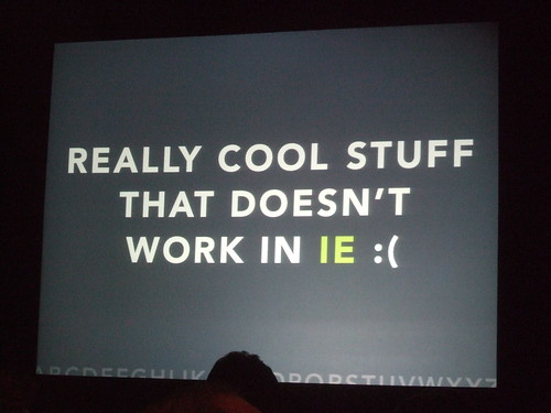 Really cool stuff that doesn't work in IE :(