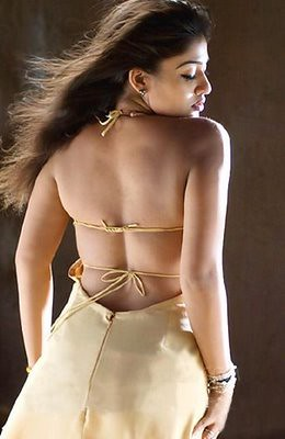 Nayantara, hot back exposed