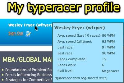 TypeRacer profile