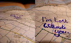 I'm lost without you (JessicaRose:)) Tags: blue lines ink writing lyrics diptych fuji map text folds creases imlostwithoutyou finepixs5700 fujifinepixs5700 blink182lyrics